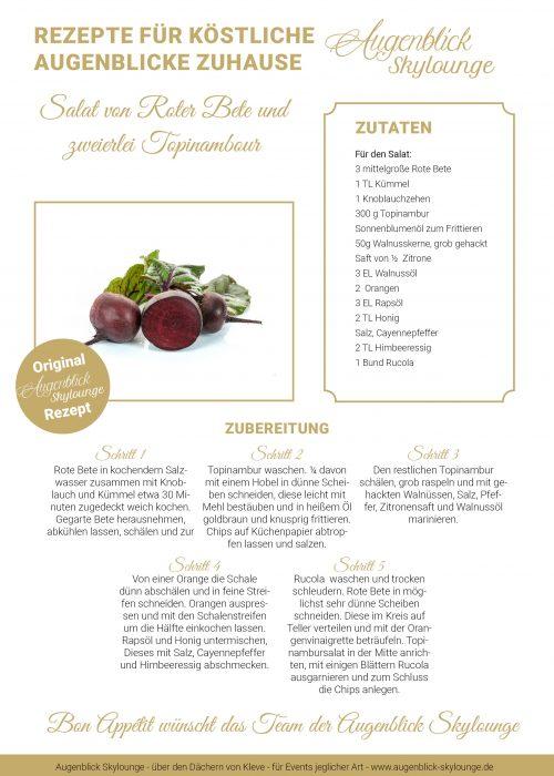 Augenblick-Skylounge_Kleve_Rezepte_Salat von Roter Bete und zweierlei Topinambour