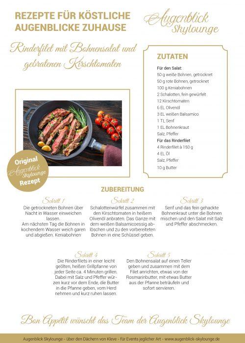 Rinderfilet mit Bohnensalat