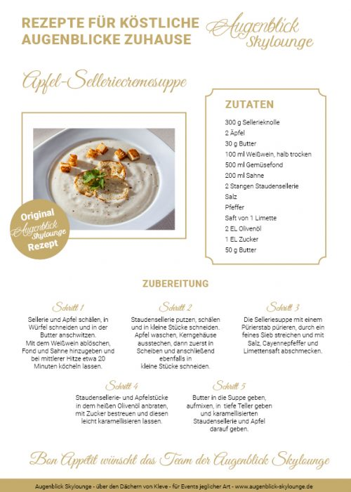 Augenblick_Skylounge_Kleve_Rezepte_Apfel-Selleriecremesuppe